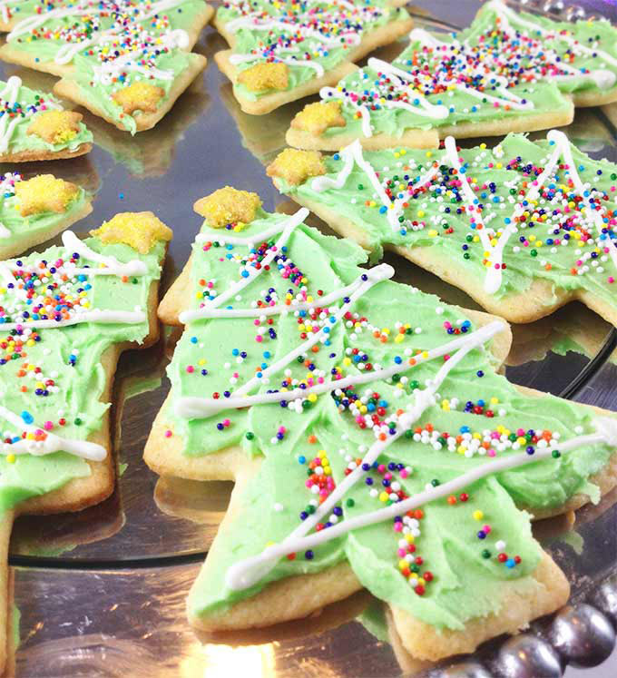 Gorgeous Christmas sugar cookies. Just seven ingredients. Light, crisp and buttery. These disappear fast.