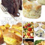 Top Ten 2016 Recipes