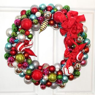 Willy Wonka Christmas Ball Wreath