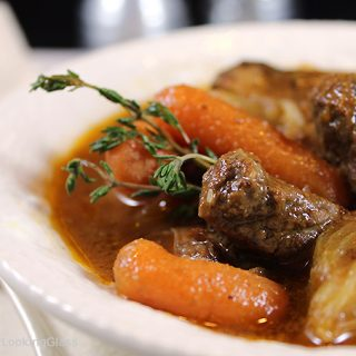 New England Beef Stew. Hearty and tender beef stew cooks all day long in the crockpot. Rich gravy and tender beef and vegetables. Best beef stew ever!