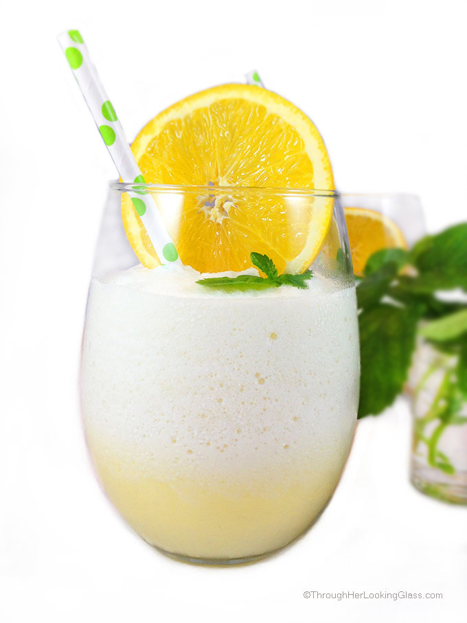Classic Orange Julius recipe. Refreshing and light fruity refreshment for a hot summer day. Healthy recipe sweetened w/ stevia or organic agave nectar.
