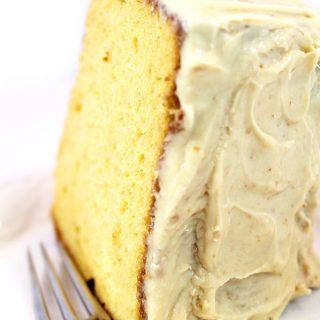 Grammy's Old-Fashioned Burnt Sugar Chiffon Cake Recipe