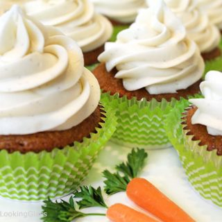 Carrot Cake Cupcakes w/Vanilla Bean Cream Cheese Frosting