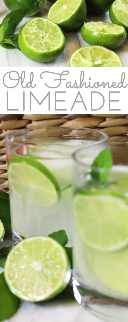 Old Fashioned Fresh Squeezed Limeade Recipe: lime juice combines w/sugar in this easy recipe for a refreshingly sweet tart summer sipper for all to enjoy!
