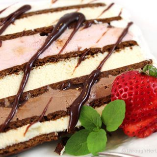 Easy Neapolitan Ice Cream Sandwich Cake Recipe