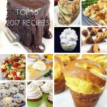 Here are the top ten favorite reader recipes of 2017! No surprise, lots of desserts and baked goods topped the list. And for the third year in a row, the Famous Brick Street Chocolate Cake came in at #1.