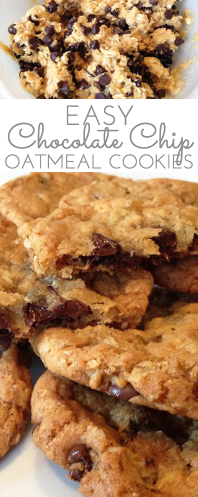 Easy Oatmeal Chocolate Chip Cookies - Through Her Looking ... Oatmeal Chocolate Chip Cookies Packaging