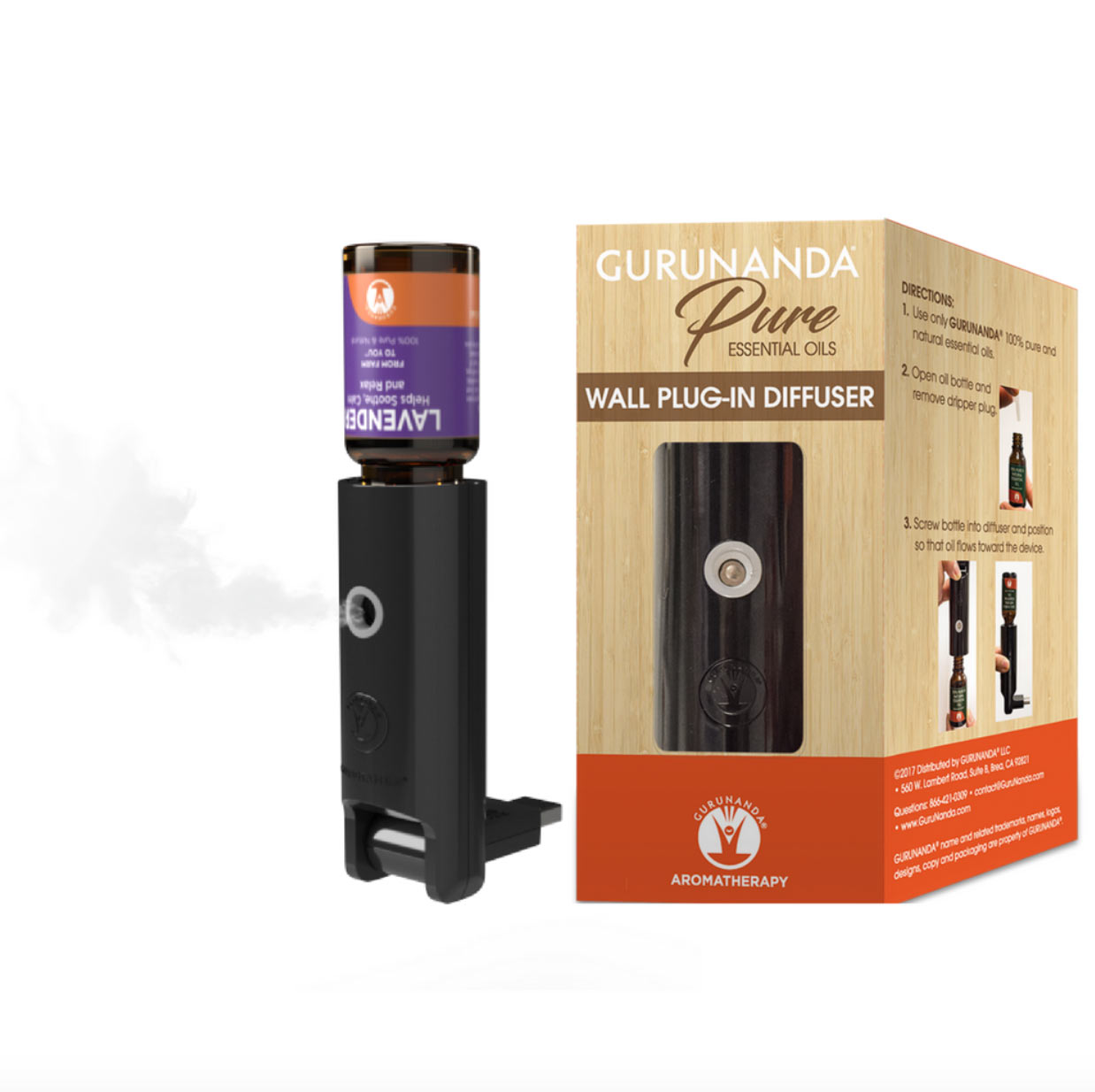 Gurunanda Pure Essential Oils Wall plug-in diffuser