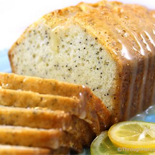 Almond Glazed Lemon Poppy Seed Bread