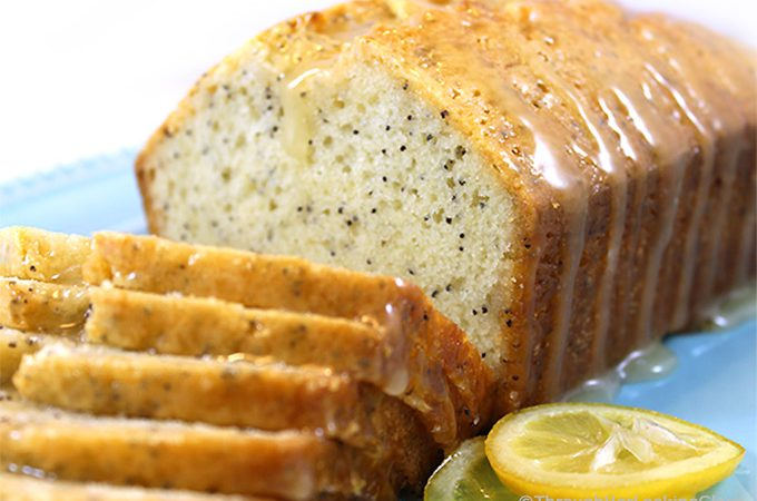 Almond Glazed Lemon Poppy Seed Bread is a moist and scrumptious sweet bread with a crackly almond glaze. Easy to make in one bowl, this bread is not your typical lemon poppy seed bread.