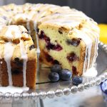 A generous slice of thisGlazed Lemon Blueberry Pound Cake is especially scrumptious on the sun porch accompanied by a tall glass of fresh squeezed lemonade. And a sprig of mint. Tender, buttery lemon pound cake is studded with fresh, juicy blueberries for the perfect summer combo.