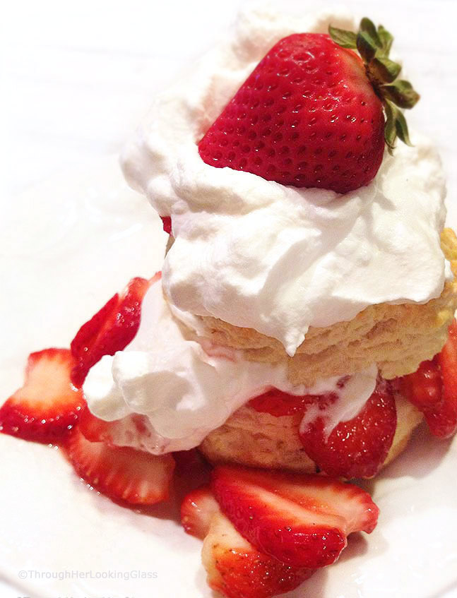 There's nothing quite like Old-Fashioned Easy Strawberry Shortcake with homemade biscuits and sweet, juicy strawberries. Perfect on the patio in summertime.