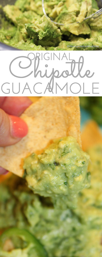 If you're a guac lover hankering for the addictive Original Chipotle Guacamole Recipe, the search is over! Creamy, mildly spicy guacamole is made with the freshest ingredients: ripe avocado, minced jalapeño and red onion, fresh squeezed lime juice and chopped cilantro.