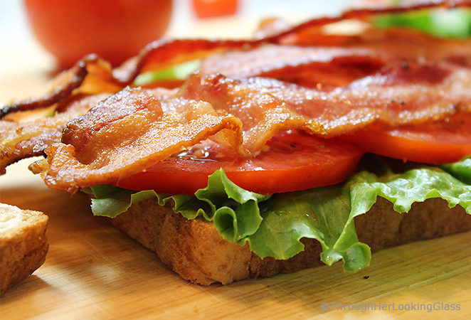 Today we're making the terrific Classic BLT Sandwich! Lightly toasted sandwich bread is layered with thick sliced garden-ripe tomatoes, fresh lettuce leaves and crisp bacon.